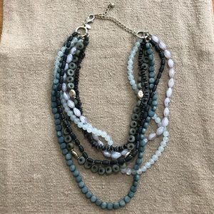 Chico's blue beaded necklace